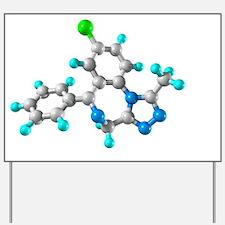 Alprazolam drug molecule Yard Sign