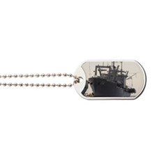 uss durham framed panel print Dog Tags