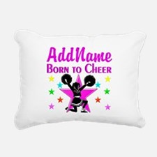 BORN TO CHEER Rectangular Canvas Pillow