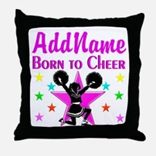 BORN TO CHEER Throw Pillow
