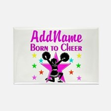 BORN TO CHEER Rectangle Magnet