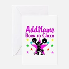 BORN TO CHEER Greeting Card