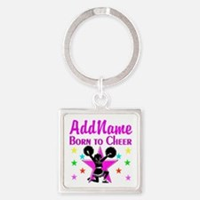 BORN TO CHEER Square Keychain