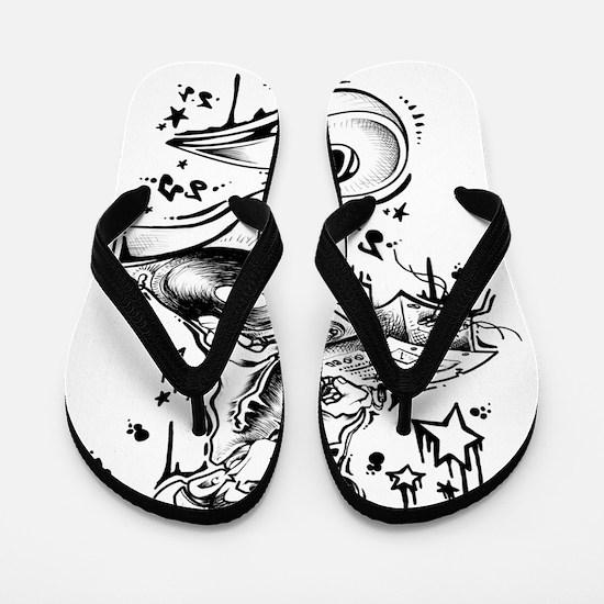 DJ Falling Stars Flip Flops