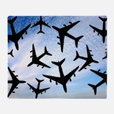 Air traffic, conceptual image Throw Blanket
