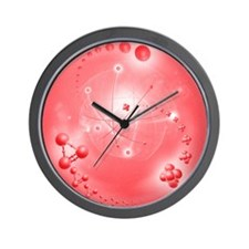 Atom, artwork Wall Clock