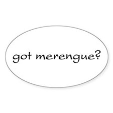 got merengue? Oval Decal