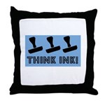 Rubber Stamping - Think Ink Throw Pillow