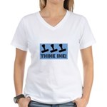 Rubber Stamping - Think Ink Women's V-Neck T-Shirt
