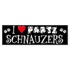 I Love Parti Schnauzers 2.0 Bumper Bumper Sticker