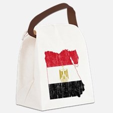Egypt Flag and Map Aged Canvas Lunch Bag