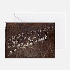 Alphabet written in chalk Greeting Card