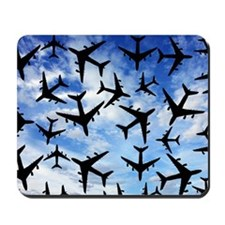 Air traffic, conceptual image Mousepad