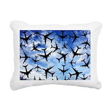 Air traffic, conceptual  Rectangular Canvas Pillow