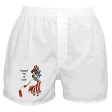 Miss 4th of July Boxer Shorts