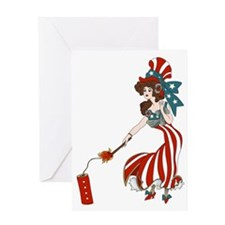 Miss 4th of July Greeting Card