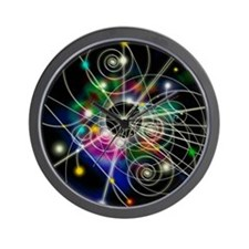 Art of particle tracks Wall Clock