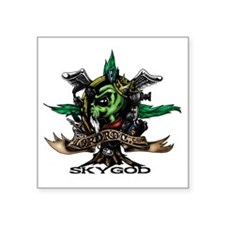 "Skygod Roots Square Sticker 3"" x 3"""