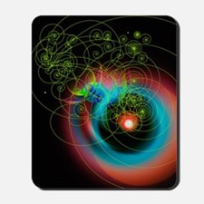 Art of particle tracks Mousepad
