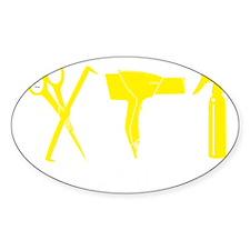 Hair Stylist Yellow Tools Black Shi Decal