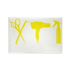 Hair Stylist Yellow Tools Black S Rectangle Magnet