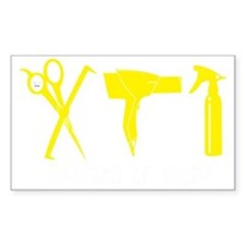 Hair Stylist Yellow Tools Blac Decal