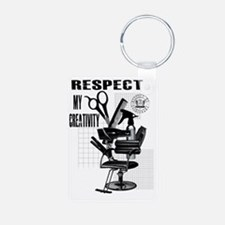 Hair Styling Tools Respect Keychains