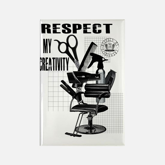 Hair Styling Tools Respect shirt Rectangle Magnet