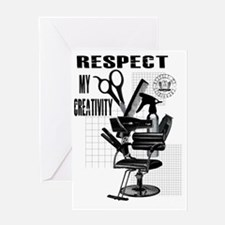Hair Styling Tools Respect shirt Greeting Card