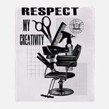Hair Styling Tools Respect shirt Throw Blanket