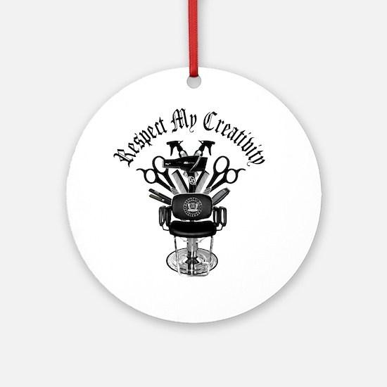 My Throne Hair style chair Round Ornament
