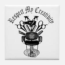My Throne Hair style chair Tile Coaster