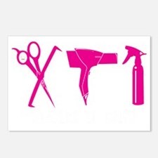 Hair Stylist Pink Tools B Postcards (Package of 8)