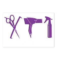 Hair Stylist Purple Tools Postcards (Package of 8)