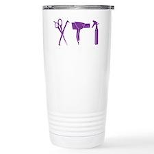 Hair Stylist Purple Tools Black Travel Mug