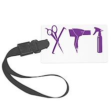 Hair Stylist Purple Tools Black  Luggage Tag
