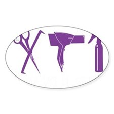 Hair Stylist Purple Tools Black Shi Decal