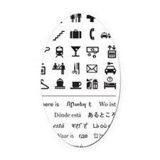 Where is...? (Version 1) Oval Car Magnet