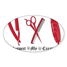 Barber Red Tools of the Trade Decal