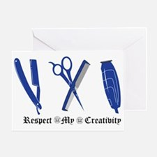 Barber Blue Tools of the trade Greeting Card