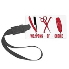 Barber Red Tools of the Trade Dk Luggage Tag