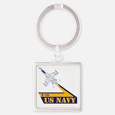 US NAVY Hornet F-18 Square Keychain