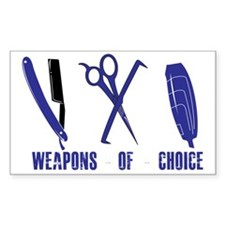 Barber Blue Tools of the Trade Decal