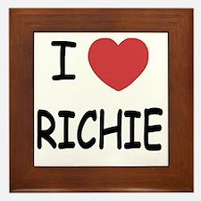I heart RICHIE Framed Tile