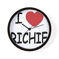 I heart RICHIE Wall Clock