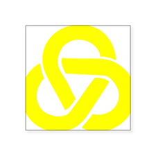"Celtic_Knot_Yellow Square Sticker 3"" x 3"""