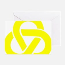 Celtic_Knot_Yellow Greeting Card