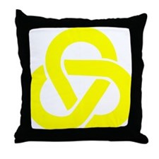 Celtic_Knot_Yellow Throw Pillow