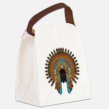 Native War Bonnet 08 Canvas Lunch Bag