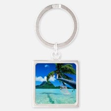 Beach Square Keychain